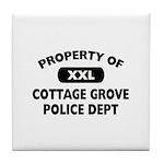 Property of Cottage Grove Police Dept Tile Coaster