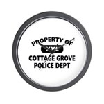 Property of Cottage Grove Police Dept Wall Clock