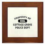 Property of Cottage Grove Police Dept Framed Tile