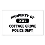 Property of Cottage Grove Police Dept Sticker (Rec