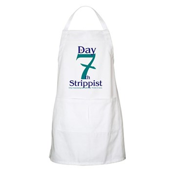 The Holy Church of the Seveth BBQ Apron