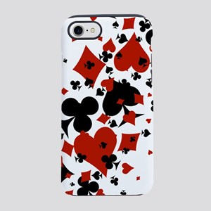 Scattered Card Suits iPhone 7 Tough Case
