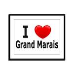 I Love Grand Marais Framed Panel Print