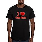I Love Grand Marais Men's Fitted T-Shirt (dark)