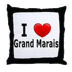 I Love Grand Marais Throw Pillow