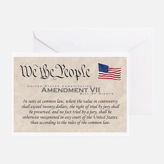 Amendment VII Greeting Card