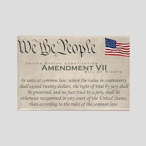 Amendment VII Rectangle Magnet