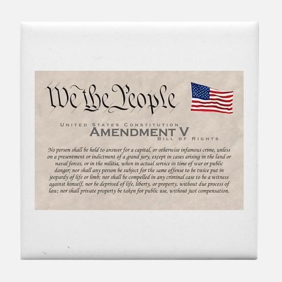 Amendment V Tile Coaster
