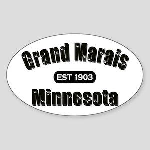 Grand Marais Established 1903 Oval Sticker