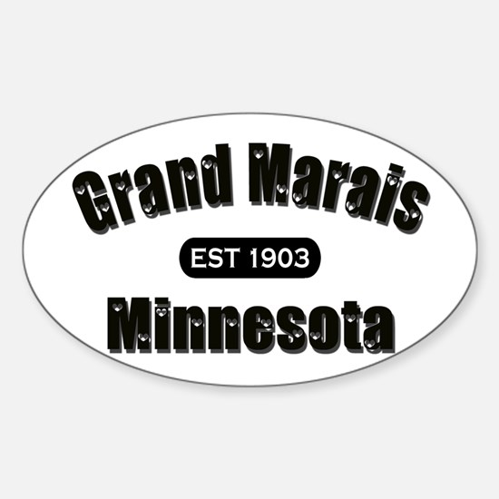 Grand Marais Established 1903 Oval Decal
