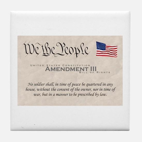Amendment III Tile Coaster