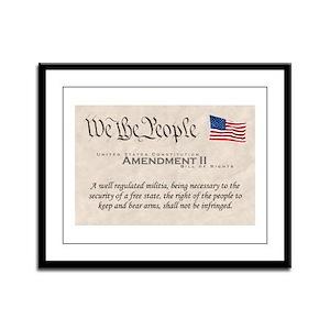 Amendment II Framed Panel Print