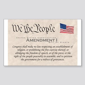 Amendment I Rectangle Sticker
