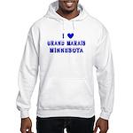 I Love Grand Marais Winter Hooded Sweatshirt