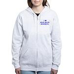 I Love Grand Marais Winter Women's Zip Hoodie