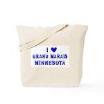 I Love Grand Marais Winter Tote Bag
