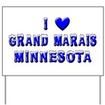 I Love Grand Marais Winter Yard Sign