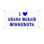I Love Grand Marais Winter Banner