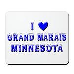 I Love Grand Marais Winter Mousepad