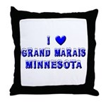 I Love Grand Marais Winter Throw Pillow