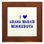 I Love Grand Marais Winter Framed Tile