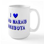 I Love Grand Marais Winter Large Mug