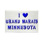 I Love Grand Marais Winter Rectangle Magnet (10 pa