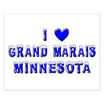 I Love Grand Marais Winter Small Poster