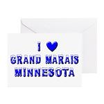 I Love Grand Marais Winter Greeting Cards (Pk of 1