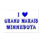 I Love Grand Marais Winter Mini Poster Print