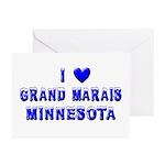 I Love Grand Marais Winter Greeting Cards (Pk of 2