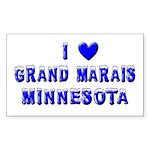 I Love Grand Marais Winter Rectangle Sticker 50 p