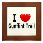 I Love the Gunflint Trail Framed Tile