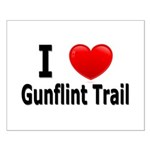 I Love the Gunflint Trail Small Poster