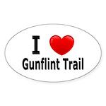 I Love the Gunflint Trail Oval Sticker (10 pk)