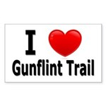 I Love the Gunflint Trail Rectangle Sticker