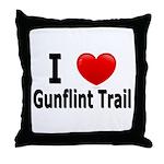I Love the Gunflint Trail Throw Pillow