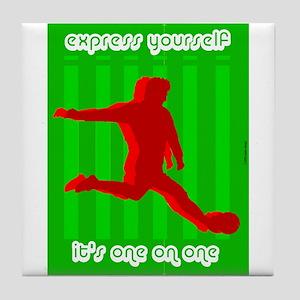 Express Yourself Design Tile Coaster