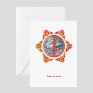 Peace (Doves) Around the Globe Greeting Cards