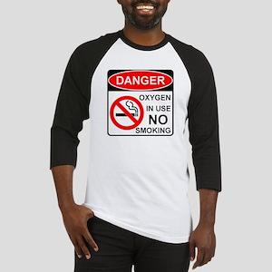 Danger Oxygen in Use No Smoking Baseball Jersey