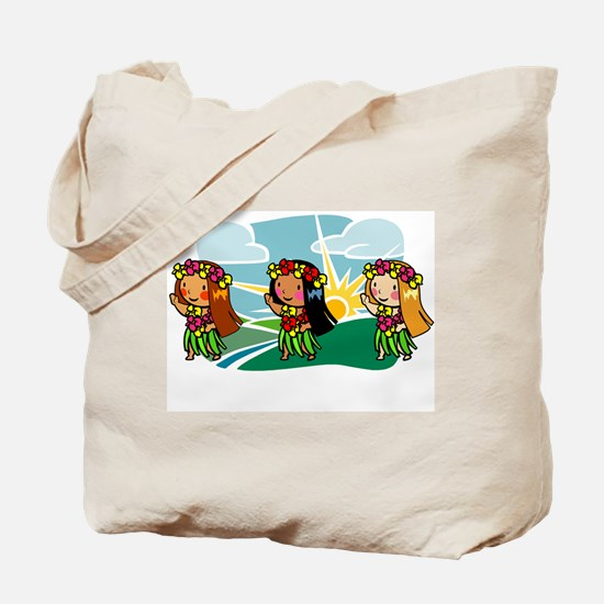 Sweet Hula Babes Tote Bag