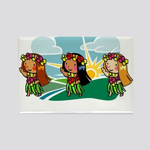 Sweet Hula Babes Rectangle Magnet
