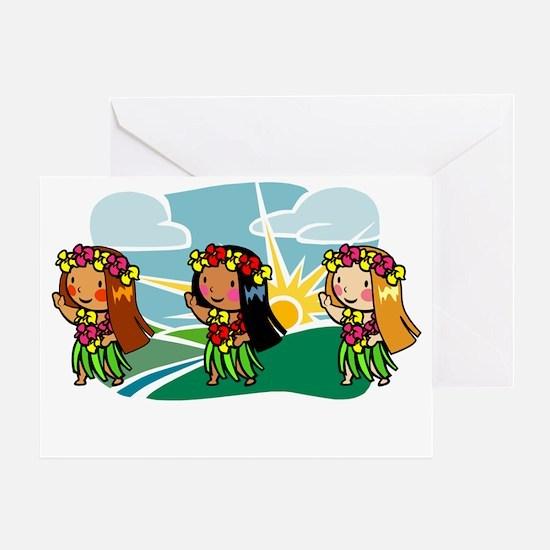 Sweet Hula Babes Greeting Card