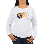 Global Warming Man Women's Long Sleeve T-Shirt