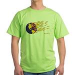 Global Warming Man Green T-Shirt