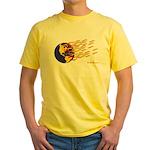 Global Warming Man Yellow T-Shirt