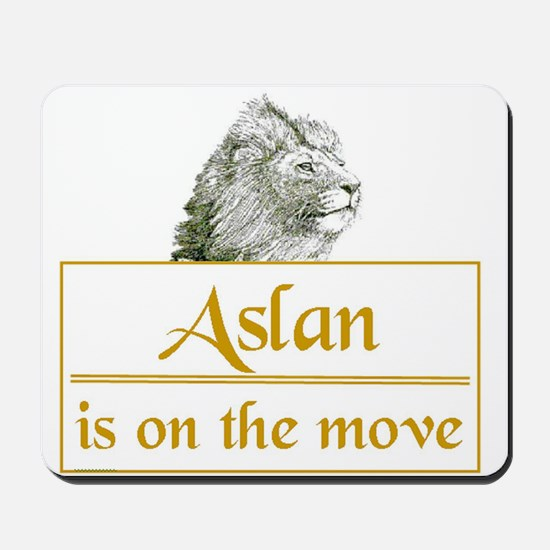 Aslan is on the move Mousepad