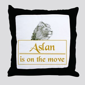 Aslan is on the move Throw Pillow