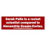 Palin vs AOC Sticker (Bumper)