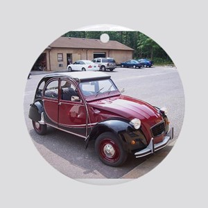 2CV Red Ornament (Round)
